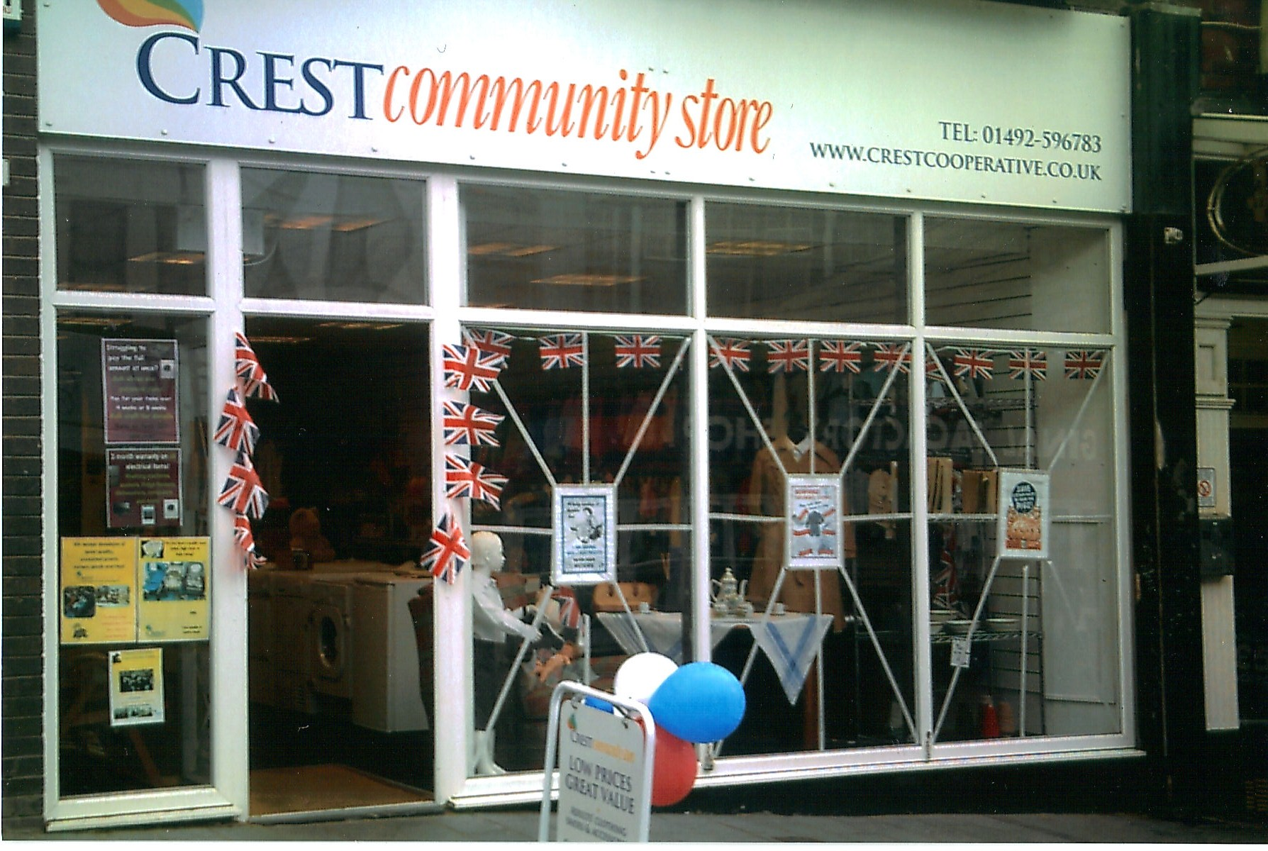 Crest Community Store in Colwyn Bay