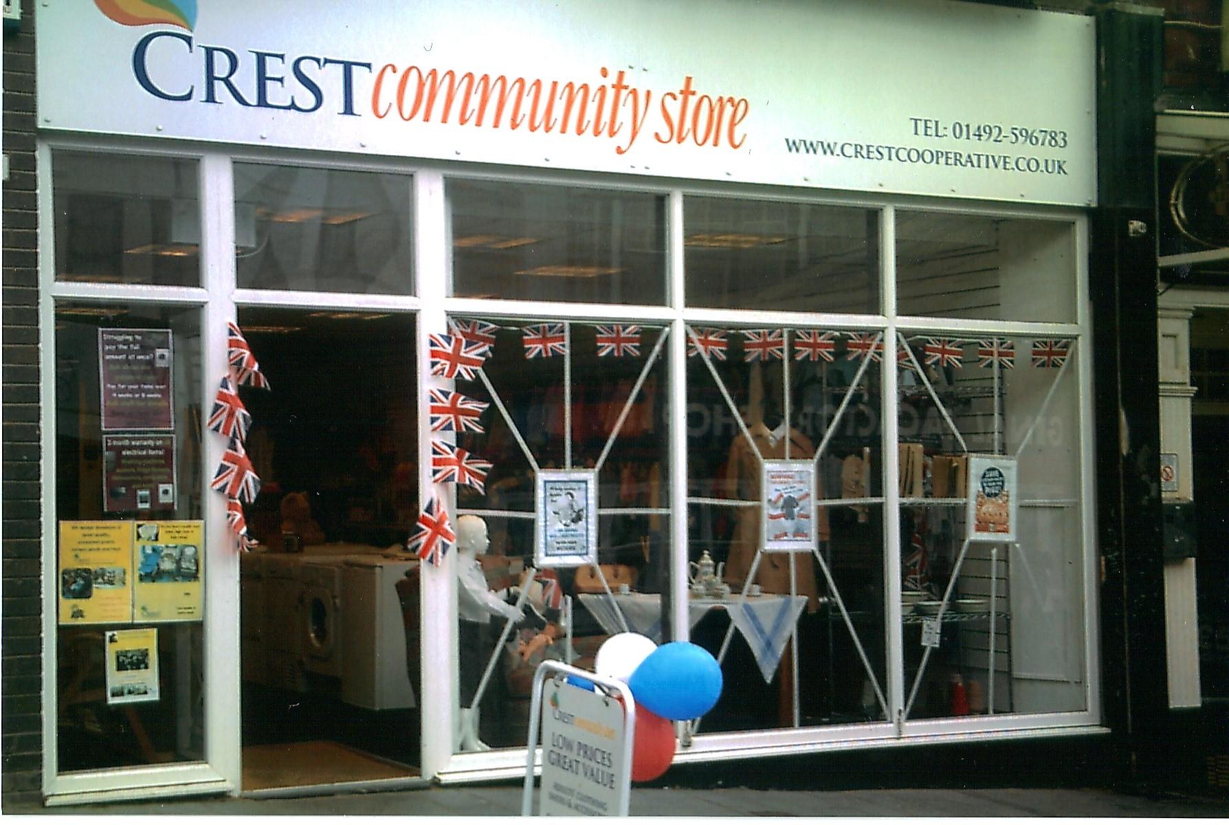 Crest Community Store in Colwyn Bay